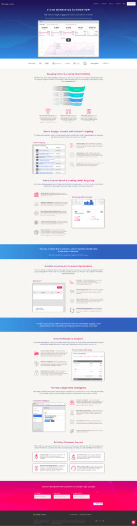 Custom landing page design services