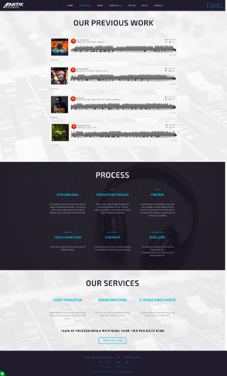 Website design/development company portfolio