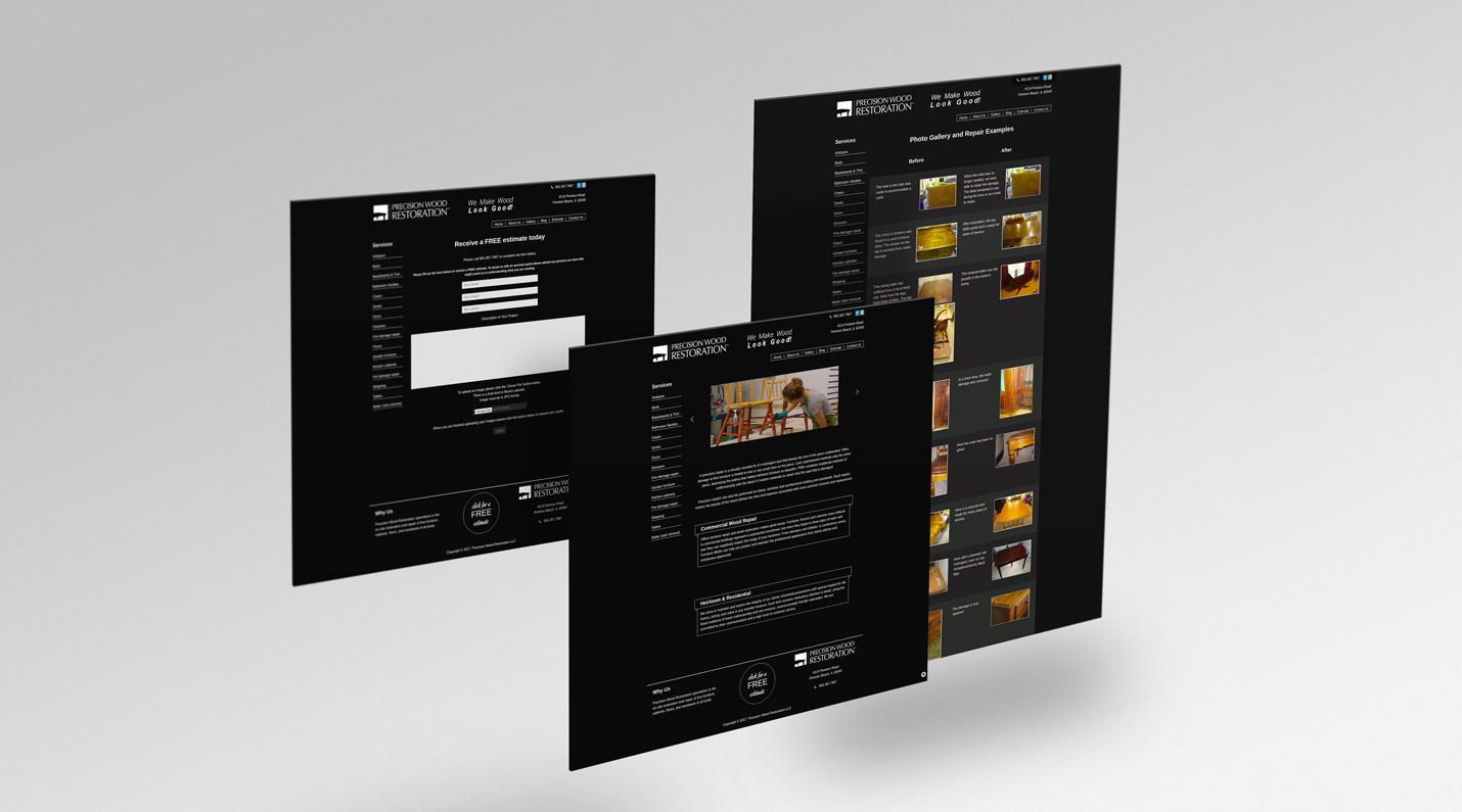 business info website - wood restoration