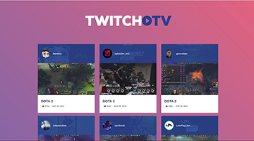Twithch TV API - Web App